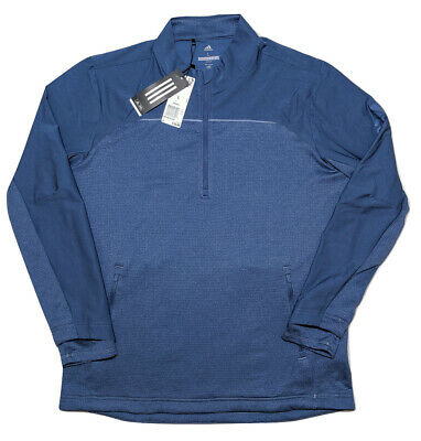 ADIDAS Golf Go-Top Adapt 1/4 Zip Sweater Pullover CY9384 Blue Large L ~ New