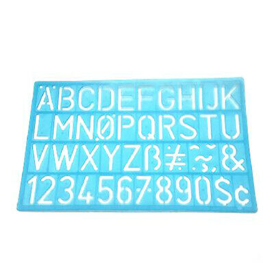 Letter Stencils Reusable Plastic Kit Large Small Template Guide Walls Numbers