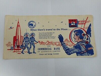 Vintage Original Rare Cba Bank Space Rocket Ship / Astronaut Blotter