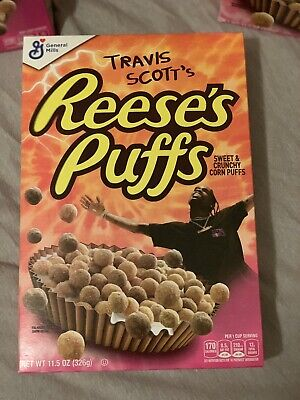 Travis Scott x Reese's Puffs cereal SOLD OUT - Look Mom I Can Fly, 4 Boxes!