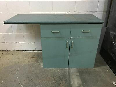 Blue Cabinet With Tabletop Attached