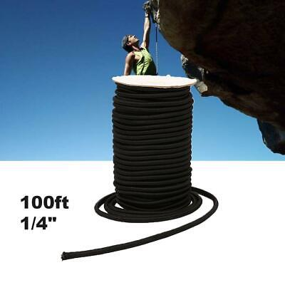 "100ft 1//4/"" Yellow Shock Cord Marine Grade Bungee Heavy Duty Tie Down Rope"