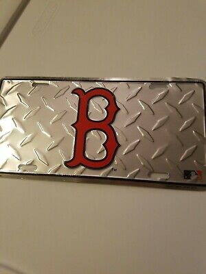 Red Sox Diamond License Plate