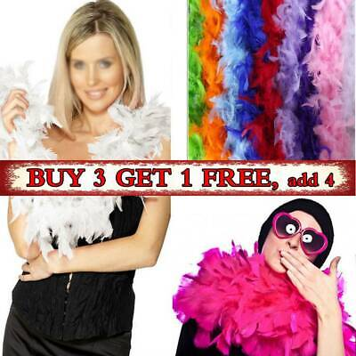 2M Feather Boa Strip Fluffy Craft Costume Dressup Wedding Party Flower Decor and