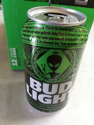 6 Empty Rare Bud Light Earth Cans Aliens Area 51.THESE CANS SAW ALIENS! FROM NV