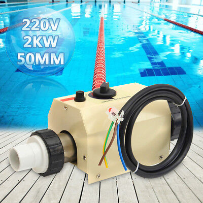2KW 220V Swimming Pool & Bath SPA Hottub Electric Water Heater Thermostat !