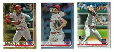 PHILLIES Gold Rainbow Foil 150th Stamp 2019 Topps 1&2&Update You Pick Team Set