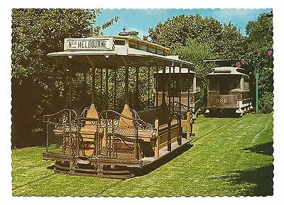 VIC - c1970s POSTCARD - MELBOURNE CABLE TRAMS, THE TRAMWAY MUSEUM, BYLANDS, VIC