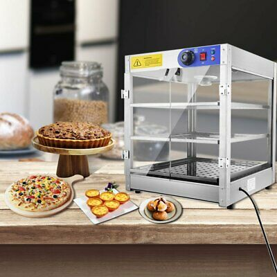 Commercial Food Warmer Hot Pizza Pie Display Showcase Buffet Cabinet AU STOCK