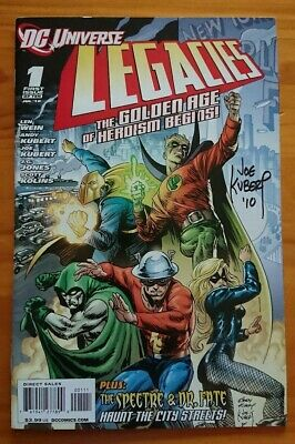 DC Universe Legacies #1 & #2 (DC Comics, 2010) SIGNED Joe Kubert