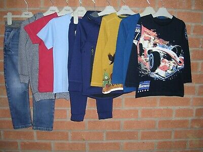 Mainly NEXT Boys Bundle Jeans Joggers Long Sleeve Tops Jumpers Age 3-4 104cm