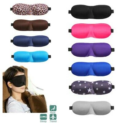 3D Soft Padded Eye Mask Travel Beauty Sleep Cover Blindfold Blinder Blackout