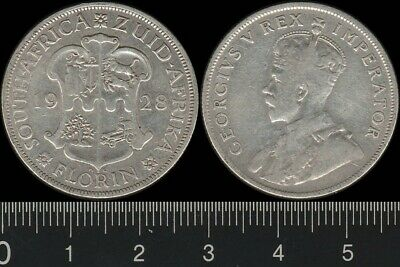 South Africa: 1928 Florin King George V KGV 2/- Two Shillings