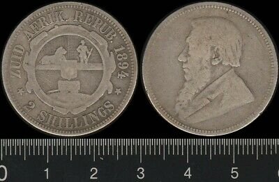 South Africa: 1894 2/- Paul Kruger Two Shillings
