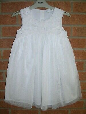 JOHN ROCHA Girls White Party Occasion Dress Age 5 110cm Immaculate