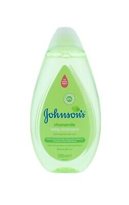 2 x Johnsons Baby Shampoo 500ml Each Chamomile Pure & Gentle Soft Hair No Tears