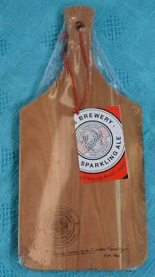 COOPERS Promo Item. Wooden Serving Board Paddle w Handle NEW. GR8 4 Mancave-Bar.