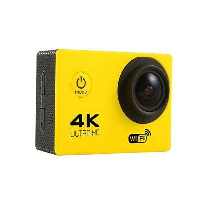 Yellow Ultra 4K Full HD 1080P Waterproof DVR Sports Camera WiFi Action Camcorder
