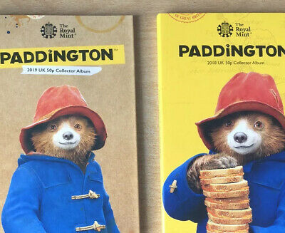 2018 & 2019 Paddington Bear Albums Coins From Sealed Bags Included