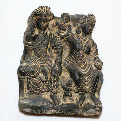 Gandhara 100-500 AD Graeco-Buddhism Stone Panel Plaque Ornament
