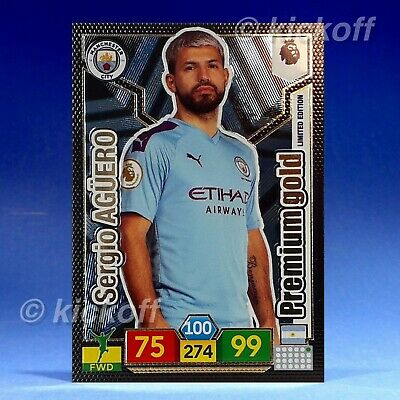 Panini Adrenalyn XL 2019-2020: AGUERO Premium Gold Limited Edition. Man City
