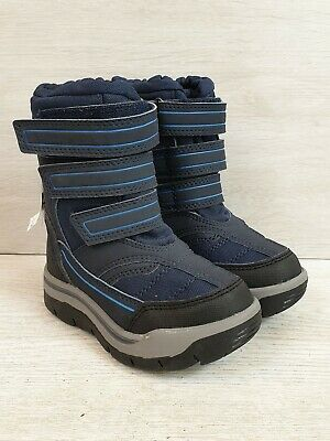 Next Boys Water Resistant Navy Blue Winter Boots - Size 6 / 23 BNWT