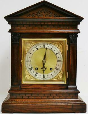 Antique Oak 8 Day 1/4 Chiming Ting Tang Musical Chime W&H Bracket Clock