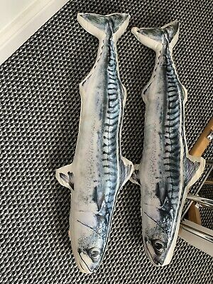 House Clearance Attic Find Course Fly Fishing Display Soft Fish Salmon Cushions