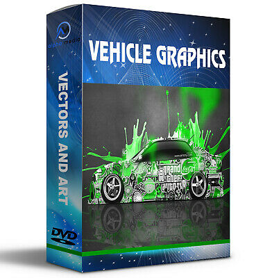 1300 CAR GRAPHICS IMAGES VECTORS VINYLS Plotter Cutter files EPS ON DISC