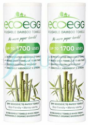 Ecoegg Bamboo Towels - 20 Towels (Pack of 2)