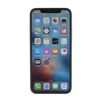 Apple iPhone X a1901 64GB Silver LTE GSM Unlocked -Very Good