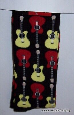 Guitars Red and Yellow on Black Mens/Womens Socks NEW DESIGN