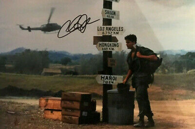 Charlie Sheen - Platoon - signed autographed PHOTO 12X8 WITH COA