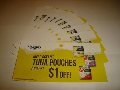 10 x Buy 2 Ocean's Tuna Pouches and Save $1.00 Coupons - Canada Only