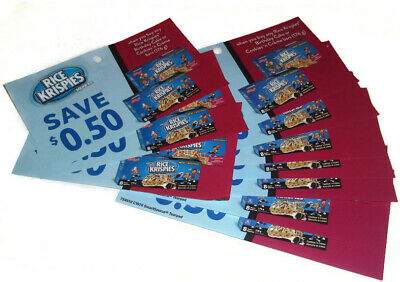 10 x Rice Krispies Birthday Cake or Cookies N'Creme Bars Coupons - Canada Only