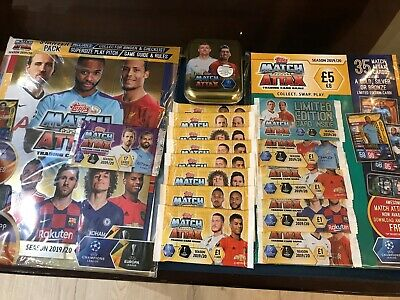 Topps Match Attax Champions League Trading Cards tin & starter pack 2019-20