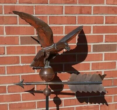 Antique Copper Spread Winged Eagle Weathervane WOW! READ