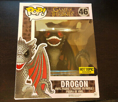 "FUNKO Pop Vinyl -- DROGON 46 (Game of Thrones) -- 6"" Hot Topic EXCLUSIVE"