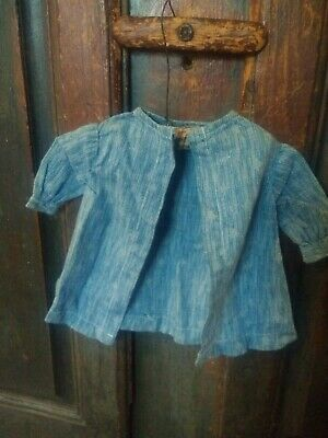 Antique Blue Doll coat 19th c. Aafa primitive folk art