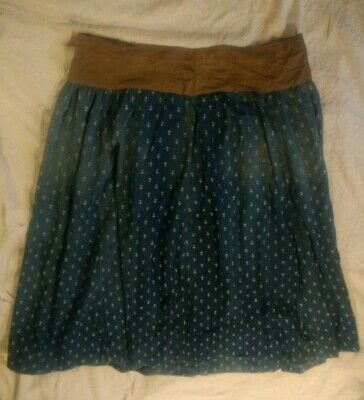 Early Antique Ladies Brown Calico Hand Sewn 19th C Petticoat AAFA Skirt Textile