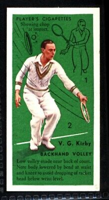 Player's Tennis 1936 - Backhand Volley V. G. Kirby No. 35
