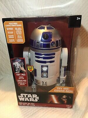 "Star Wars Big Figs R2-D2 Deluxe Figure 18"" Lights Sound Moves MB 2016 FREE SHIP"