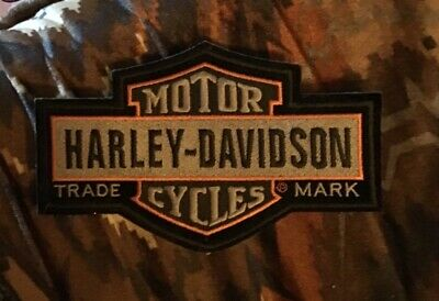 "Harley Davidson Patch Large Logo Sew or Iron On 7x4 1/2"" Bar & Shield Biker new"