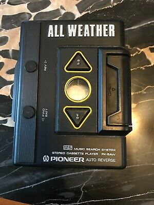 Pioneer PK-5AW ALL WEATHER Portable Cassette Player Auto reverse RARE!!!