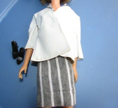 Vintage Barbie Doll Clothes Clone Outfit Pencil Skirt Jacket Shoes Tressy 1960s