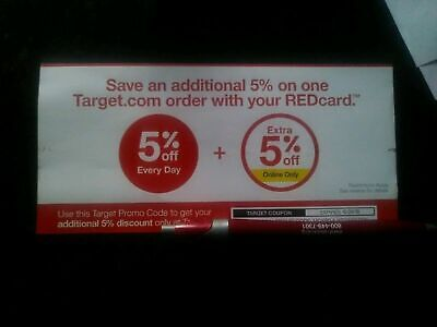 Target Coupon 5% Off Expires 10-26-19 REDcard