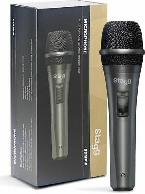 Stagg SDMP10 - Dynamic Cardoid Vocal or Instrumental Microphone On/Off Switch