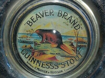 Beaver Brand Guinness Stout Old Advertising Paperweight Stand C Machen & Hudson