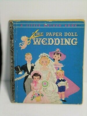 """Little Golden Book #193 """"THE PAPER DOLL WEDDING"""" - 1954 - Clothes & Dolls"""