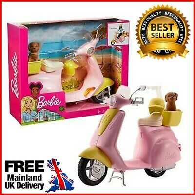 Barbie Doll Scooter Moped Motorbike Motorcycle Girls Toys Kids Toy Figures Bike